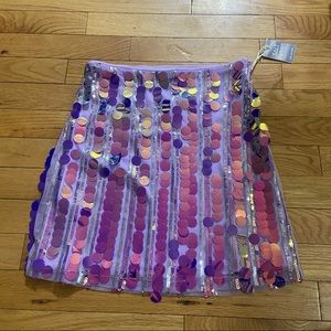 BNWT H&M iridescent lilac skirt in size small